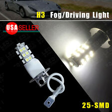 Car Auto H3 25-SMD Xenon White Fog/Driving Head LED Light Lamps Bulb US Ship 12V