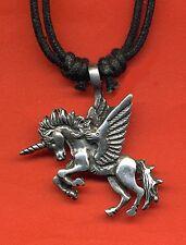Cable De Unicornio Pegasus Peltre Colgante Collar Regalo Nuevo Caballo Equino