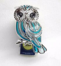1 Bath & Body Works Wallflower BLUE OWL Night Light Diffuser Unit Plug Holder