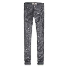 Hollister Co.. HCO Ragazze paillettes Front Jeggings RRP £ 90! 9-r w28/29 l29 NUOVO