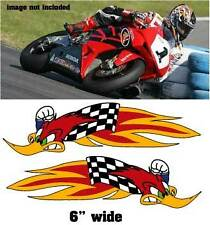 HRC Woody Racing 2 DECALS Superbike graphics AMA belly pan FREE SHIP