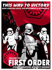 First Order Stormtrooper Pilot Recruitment Star Wars Silk Screen Propaganda Art