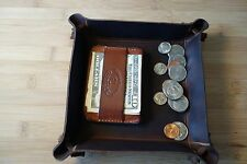 Valet tray HAND MADE PREMIUM  LEATHER , coin & key tray,Groomens gift,