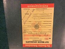 VW Beetle KdF Wagen  Sparkarte booklet with original  Red stamp 1939