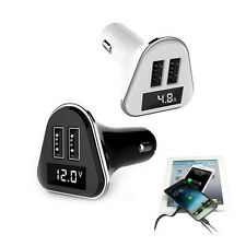 Dual USB Car Charger Adapter 4.8A  for Cell Phones Tablet GPS Volt&Amp Monitor