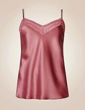 ROSIE FOR AUTOGRAPH SILK & LACE CAMISOLE ROSE Sz 18. BNWT