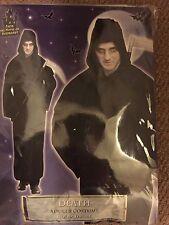Black Hooded Robe Grim Reaper Adult Large