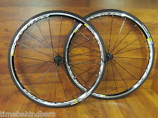 MAVIC KSYRIUM EQUIPE S BLACK 700C CLINCHER 11 SPEED SHIMANO WHEELSET YKSION COMP