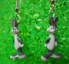 NORA WINN SM. Bugs Bunny Earrings  925 HOOKS Looney Tunes