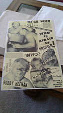 pro wrestling poster.classic chicago action.awa.wwa.the bruiser.the sheik.heenan