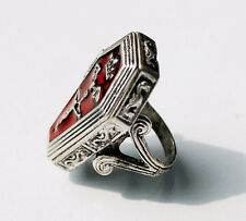 Red Jesus Fashion Ring Men Women Silver Bible Book With Box Gothic Trendy Gifts