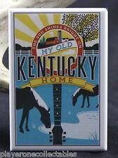 """Kentucky Travel Poster 2"""" X 3"""" Fridge / Locker Magnet."""