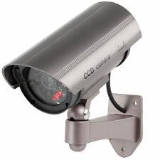 Videocamera finta videosorveglianza.Telecamera sicurezza, led lampeggiante rosso
