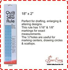 "Quilt and Sew Ruler 18"" x 2"" - Circles, Patchwork, Craft, Scallop, Dressmaking"