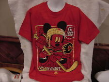 AWESOME Calgary Flames Youth Sz Sm Majestic T-Shirt, Mickey Mouse, NEW&NICE!