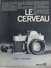 PUBLICITE MINOLTA APPAREIL PHOTO CELLULE SR T 101 LE CERVEAU DE 1968 FRENCH AD