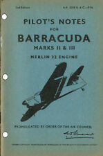 PILOTS NOTES: FAIREY BARRACUDA TORPEDO BOMBER 45pps+FREE 2-10 PAGE INFO PACK