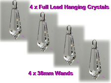 Suncatcher Hanging Crystal Rainbow Prism Feng Shui Mobile Wind Chime Drops x4