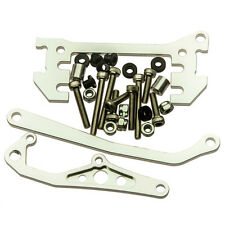 1 SET ALLOY CHASSIS MOUNTED SERVO WITH PANHARD LINK FOR RC Crawler SCX10 Silver