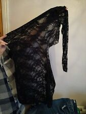 Used Ann Summers black lace britney dress