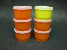 Vintage Tupperware Snack Cups Set Of 6 With Lids