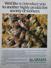 11/1990 PUB STATE OF ALABAMA INDUSTRIAL TRAINING RUCHE ABEILLE REINE ORIGINAL AD