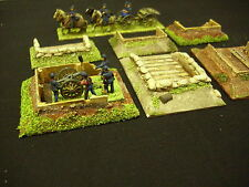 Wargames Scenery. Gun Emplacements and rifle pits. 12 models. for 15mm