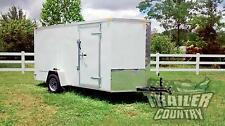 NEW 2016 6 x 12 V-Nosed Enclosed Cargo Motorcycle Trailer w/Ramp & Side Doors