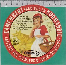 J441  FROMAGE CAMEMBERT  LE PETIT CHAPERON ROUGE ISIGNY CALVADOS LOUP