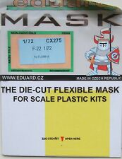 Eduard 1/72 CX275 Canopy Mask for the Fujimi F-22 Raptor kit