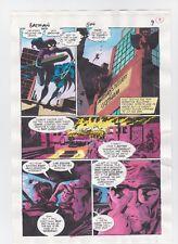 BATMAN #504 PAGE 9 ORIGINAL COMIC PRODUCTION ART COLOR GUIDE CODE FREE CATWOMAN