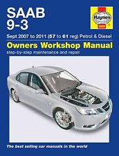 Saab 9-3 (Sept. 2007-2011) Reparaturanleitung workshop repair manual Handbuch