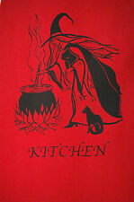 WITCH CAT CAULDRON APRON  WICCA GOTHIC