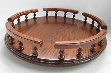 "NEW 16"" Amish Handcrafted Solid Oak Wood lazy susan turn table condiment server"