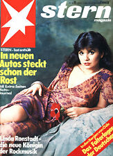 Magazin STERN  Nr 13 v. 1977, Cover Linda Ronstadt; F.J. Strauß in Afrika; Autos