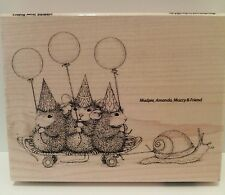 "New! Stampendous House-Mouse ""Slow Riders"" WM Rubber Stamp"