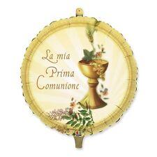 PALLONCINO mylar grande PRIMA COMUNIONE 90 cm oro, addobbi eventi festa 1