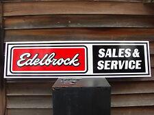 NEW! EDELBROCK EQUIPMENT DEALER 3 COLOR SIGN/SPEED PARTS/HOT ROD/GARAGE ART