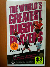 THE WORLD'S GREATEST RUGBY PLAYERS ~ VOLUME 2 ~ RARE VIDEO
