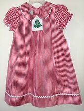New W/Tags Marmellata Red Gingham Smocked Christmas Dress ~ Size 4T