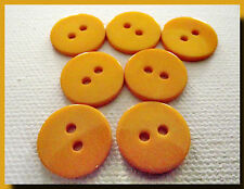 LOT 4 BOUTONS  orange 15 mm 2 trous  1,5 cm button mercerie couture sewing