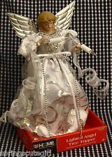 1 Light-up Angle Doll Blondey Christmas Tree Topper Silver & White