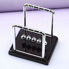 Newton's Cradle Fun Steel Balance Ball Physics Science Desk Toy Accessory Gift L