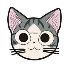 Cheese Cat Cute big eyes Car Stickers Window Decals Laptops Stickers QP508
