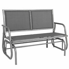 "Best Choice Products 48"" Outdoor Patio Swing Glider Bench Steel Frame Chair"