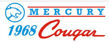 C039 1968 Mercury Cougar muscle sports classic car banner garage signs