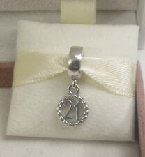 New w/Box & Tag Pandora Sterling Silver 21 Happy Birthday Dangle Charm #790496
