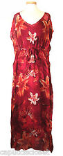 Lucky Brand Womens Maxi Dress MAYA Long Floral Print Caftan Gown Red M NEW $169