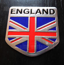 Chrome Style Union Jack England Flag Badge for Kia Venga Sedona Magentis Rio Car