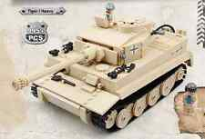 Custom WW2 German Army Military Tiger I TANK Building Toy USA Free Shipping